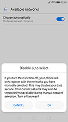 Huawei P10 - Android Oreo - Network - Manually select a network - Step 7