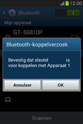 Samsung S6810P Galaxy Fame - bluetooth - headset, carkit verbinding - stap 7
