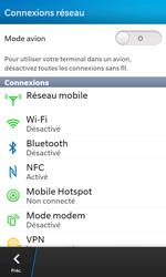 BlackBerry Z10 - Internet et roaming de données - Désactivation du roaming de données - Étape 5