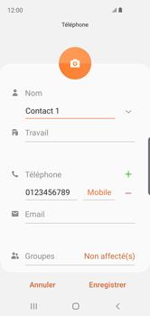 Samsung Galaxy S10e - Contact, Appels, SMS/MMS - Ajouter un contact - Étape 11