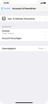 Apple iPhone X - E-Mail - Konto einrichten (outlook) - Schritt 10