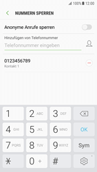 Samsung Galaxy S7 - Android Nougat - Anrufe - Anrufe blockieren - Schritt 11