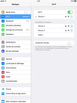 Apple iPad Air iOS 8 - WiFi - configuration du WiFi - Étape 7