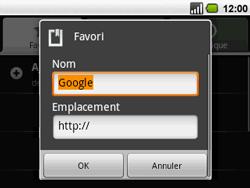 Acer BeTouch E130 - Internet - navigation sur Internet - Étape 6