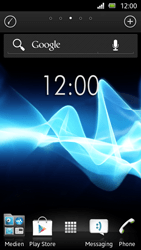 Sony Xperia U - Getting started - Installing widgets and applications on your start screen - Step 3