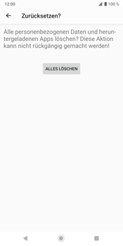 Sony Xperia XZ3 - Fehlerbehebung - Handy zurücksetzen - Schritt 11