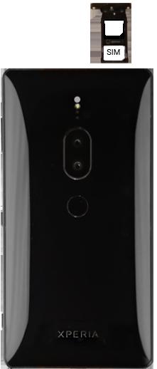 Sony Xperia XZ2 Premium - SIM-Karte - Einlegen - Schritt 5