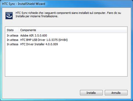 HTC Desire X - Software - Installazione del software di sincronizzazione PC - Fase 5