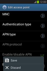 Samsung S6810P Galaxy Fame - Internet - Manual configuration - Step 15