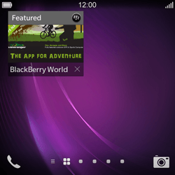 BlackBerry Q10 - Applications - Setting up the application store - Step 14