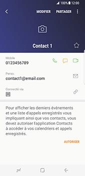Samsung Galaxy S8 - Contact, Appels, SMS/MMS - Ajouter un contact - Étape 10