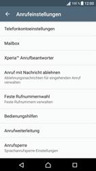 Sony Xperia XA - Anrufe - Rufumleitungen setzen und löschen - 5 / 9