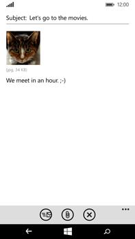 Microsoft Lumia 640 XL - E-mail - Sending emails - Step 14