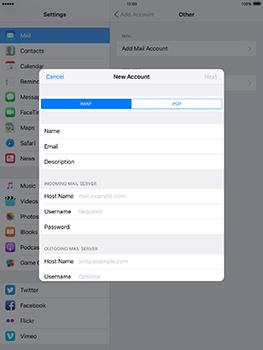 Apple iPad mini 4 iOS 10 - E-mail - Manual configuration - Step 13