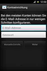 Sony Xperia Miro - E-Mail - Konto einrichten - Schritt 5