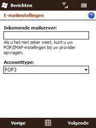 HTC T3333 Touch II - e-mail - handmatig instellen - stap 9