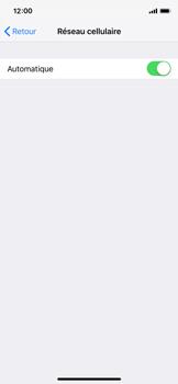 Apple iPhone XS - Réseau - Sélection manuelle du réseau - Étape 5