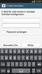 Samsung Galaxy S 4 Mini LTE - E-Mail - Manuelle Konfiguration - Schritt 6