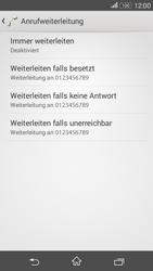 Sony Xperia E4G - Anrufe - Rufumleitungen setzen und löschen - 2 / 2