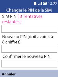Alcatel 3088X - Sécuriser votre mobile - Personnaliser le code PIN de votre carte SIM - Étape 7