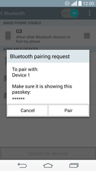 LG G3 - Bluetooth - Connecting devices - Step 8