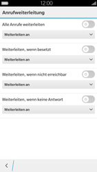 BlackBerry Leap - Anrufe - Rufumleitungen setzen und löschen - 7 / 13