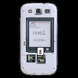 Samsung I9300 Galaxy S3 - SIM-Karte - Einlegen - Schritt 3