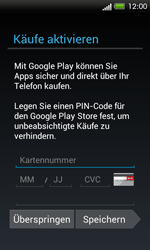 HTC One SV - Apps - Einrichten des App Stores - Schritt 14