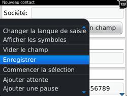 BlackBerry 9320 - Contact, Appels, SMS/MMS - Ajouter un contact - Étape 8