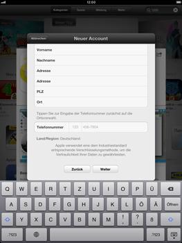 Apple iPad Retina - Apps - Einrichten des App Stores - Schritt 22