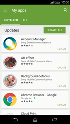 Sony Xperia Z2 - Applications - How to check for app-updates - Step 6