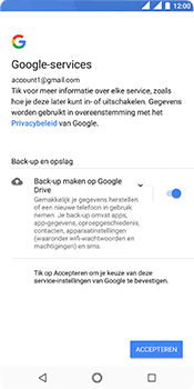 Nokia 5.1 - Applicaties - Account instellen - Stap 20