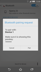 Sony Xperia Z2 - Bluetooth - Connecting devices - Step 7