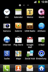 Samsung Galaxy Ace - Apps - Konto anlegen und einrichten - 3 / 22
