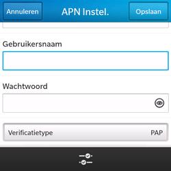 BlackBerry Q5 - internet - handmatig instellen - stap 9