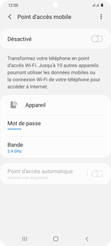 Samsung Galaxy S20 5G - WiFi - Comment activer un point d'accès WiFi - Étape 11