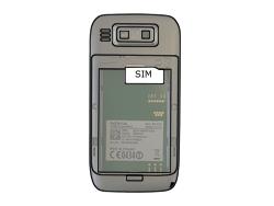 Nokia E72 - SIM-Karte - Einlegen - Schritt 3