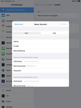 Apple iPad mini (2019) - iPadOS 13 - E-Mail - Manuelle Konfiguration - Schritt 11