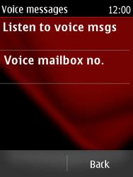 Nokia Asha 300 - Voicemail - Manual configuration - Step 5