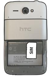 HTC ChaCha - SIM-Karte - Einlegen - 3 / 7