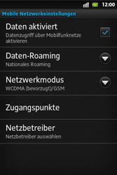 Sony Xperia Go - Netzwerk - Netzwerkeinstellungen ändern - 6 / 7