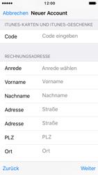 Apple iPhone SE - iOS 10 - Apps - Konto anlegen und einrichten - Schritt 20
