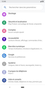 Google Pixel 3 - Aller plus loin - Restaurer les paramètres d'usines - Étape 4