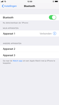Apple iPhone 8 Plus - Bluetooth - verbinden met ander Bluetooth apparaat - Stap 6