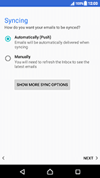 Sony Xperia XZ (F8331) - Android Nougat - E-mail - Manual configuration - Step 21