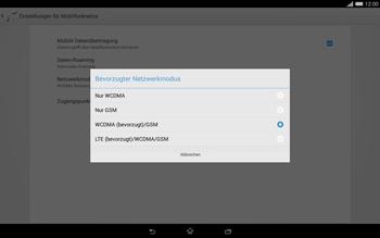 Sony Xperia Tablet Z2 LTE - Netzwerk - Netzwerkeinstellungen ändern - 7 / 8