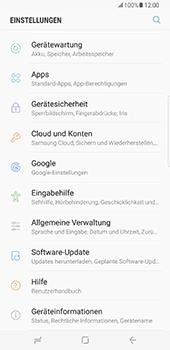 Samsung Galaxy S8 Plus - Gerät - Zurücksetzen auf die Werkseinstellungen - Schritt 4