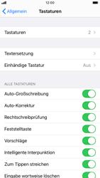 Apple iPhone 8 - iOS 14 - Startanleitung - So fügen Sie eine Tastatursprache hinzu - Schritt 5