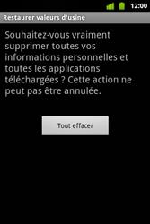 Alcatel OT-983 - Téléphone mobile - Réinitialisation de la configuration d