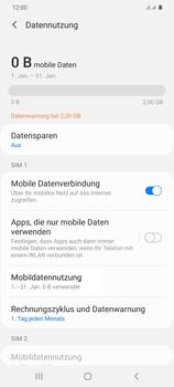 Samsung Galaxy S20 Plus 5G - Internet und Datenroaming - Prüfen, ob Datenkonnektivität aktiviert ist - Schritt 7